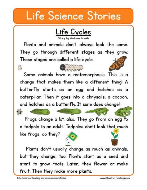 science comprehension worksheets for grade 2 reading comprehension worksheet cycles