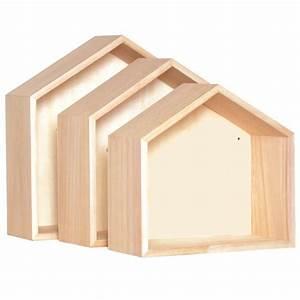 Etagere Murale Maison : maisonnette en bois etagere ~ Teatrodelosmanantiales.com Idées de Décoration