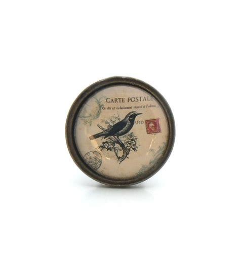 poignee bouton de porte original bouton de meuble oiseau noir collection vintage boutons mandarine