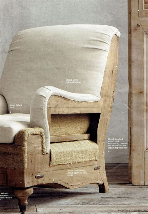 deconstructed chair upholstery restoration hardware