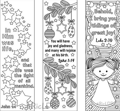 christmas template mark 9 christmas coloring bookmarks 6 designs with bible