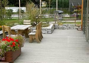 Terrasse Tiefer Als Garten : ein gro z giger terrassengarten gestaltungsbeispiel ~ Orissabook.com Haus und Dekorationen