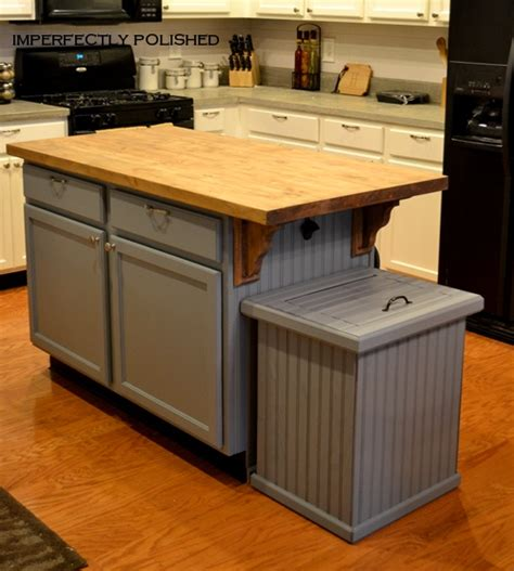 kitchen island with garbage bin how to build a trash can cover 8250
