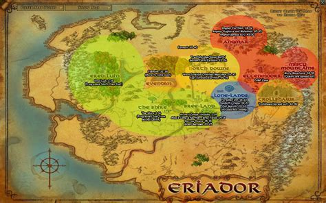 Lord Of The Rings Online World Map.Lotro Map Mungfali