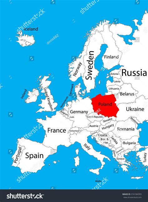 poland vector map europe vector map stock vector 316184393