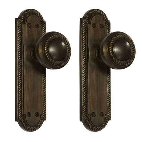 Twisted Rope Door Knob & Plate Set   Dummy   Hardware