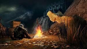 Dark, Souls, Bonfire, Wallpaper