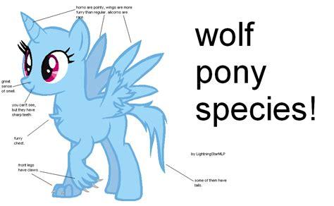 Wolf Ponies! By Lightningstarmlp On Deviantart