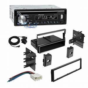 Pioneer Car Stereo Single Din Bluetooth Dash Kit Harness