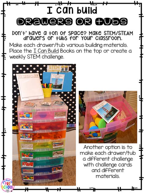 make stem drawers to keep materials together lesson plans 122 | stem drawers