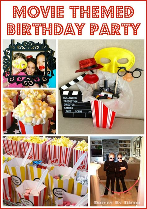 themed birthday party driven  decor