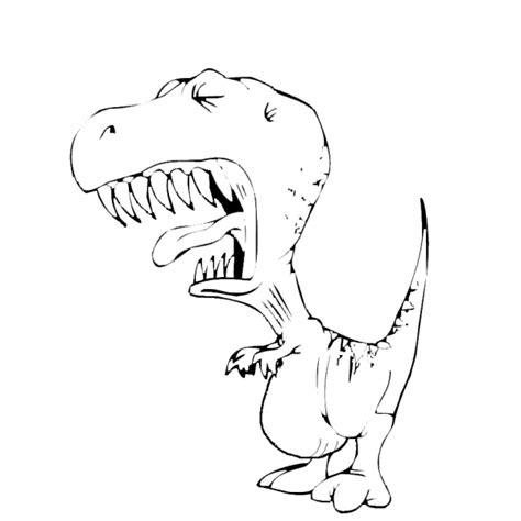 disegno per bimbi disegno di tirannosauro da colorare per bambini