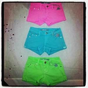 neon shorts for the little girls sooo darn cute