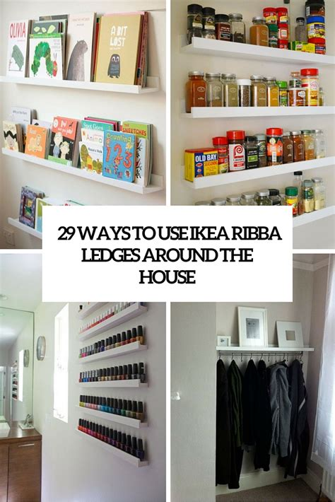 black kitchen table 29 ideas to use ikea ribba ledges around the house digsdigs