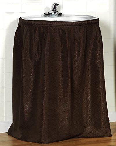 sink skirts for sale carnation home fashions lauren dobby fabric sink skirt 56