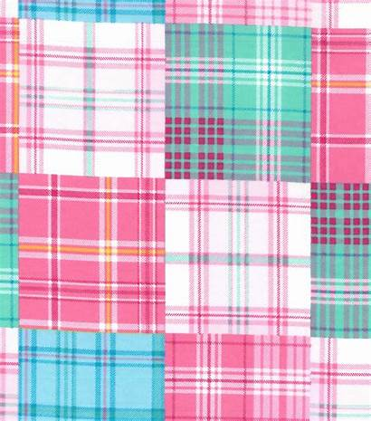 Madras Pink Flannel Fabric Patchwork Snuggle Plaid