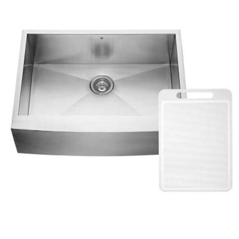 Home Depot Stainless Farm Sink by Vigo Farmhouse Apron Front Stainless Steel 30 In Single