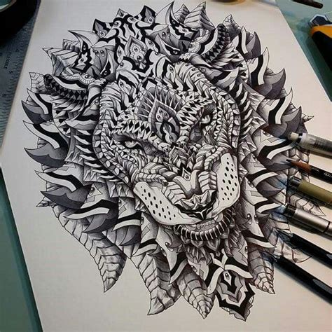 lion mandala images  pinterest tattoo ideas