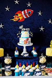 Kara's Party Ideas Rocket Ship + Space Themed Birthday Party