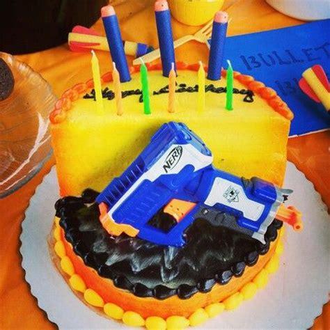 Nerf  Ee  Birthday Ee   Cake  Ee  Birthday Ee   Parties Pinterest Cakes