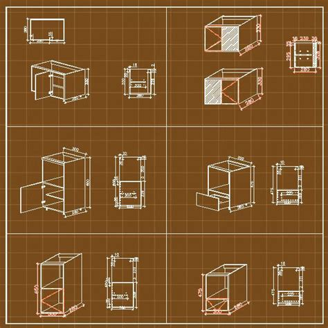 Cabinet Autocad Blocks by Cabinets Cad Cad Design Free Cad Blocks Drawings Details