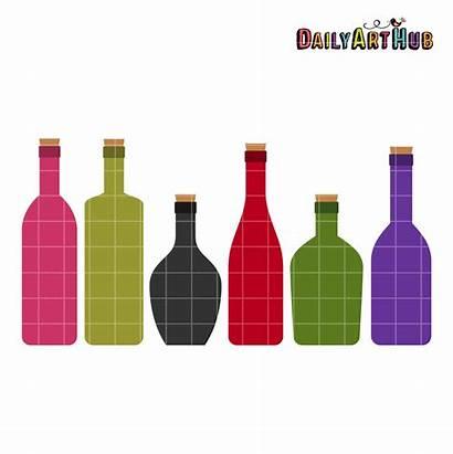 Wine Bottles Clip