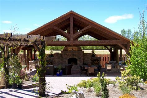 outdoor structure timber frame outdoor kitchens