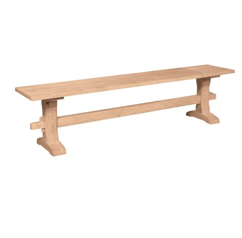 72 Inch Upholstered Bench by 72 Inch Trestle Bench