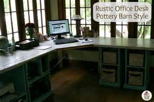 rustic office desk pottery barn style