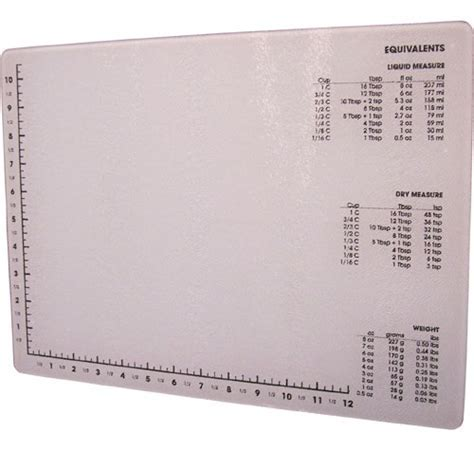 Glass Cutting Board with Measurements in Cutting Boards