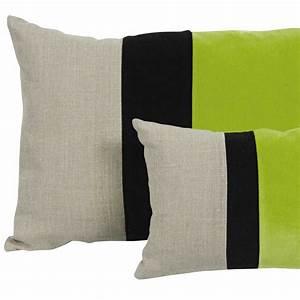 coussin moderne rectangulaire beige noir et vert moelleux With tapis de yoga avec coussin moelleux pour canapé