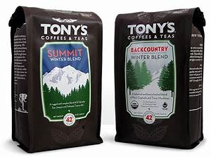 featured label tony39s coffees teas coffee bag labels With coffee bag labels