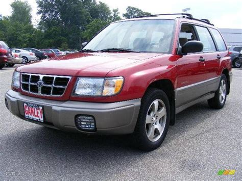 red subaru forester 2000 1999 canyon red pearl subaru forester s 16839868