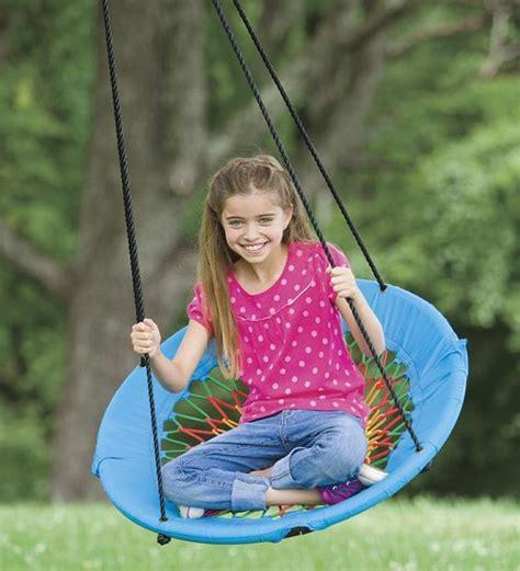 adorable outdoor swings  excite  kids gardenoholic