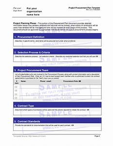 Project procurement plan template hashdoc for Procurement document template