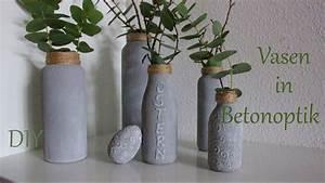 Vasen Aus Beton : diy vasen in betonoptik aus altglasflaschen upcycling just deko youtube ~ Sanjose-hotels-ca.com Haus und Dekorationen
