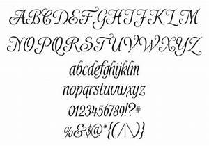 Beautiful Handwriting Alphabet. Lesupercoin Printables ...