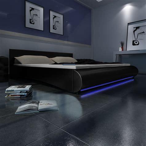 Led Streifen Bett by Polsterbett Kunstleder Polster Bett Lattenrost Led