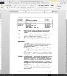 ISO Document Control Procedure Template