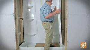 How to install a direct to stud shower enclosure bath for How to replace a bathroom window
