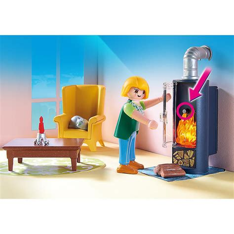 living room playset playmobil pm5308 living room with fireplace playset
