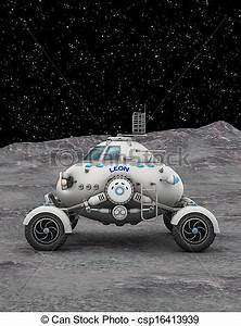 Space rover. Image of space vehicle.