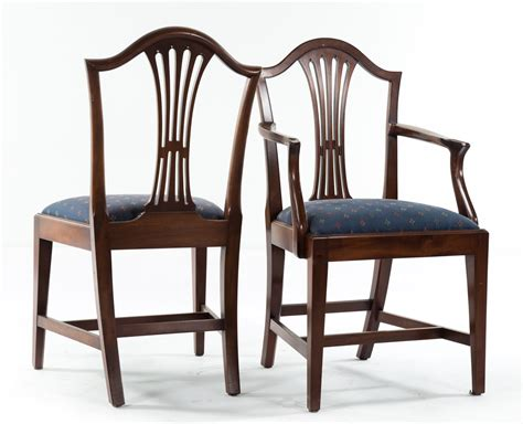 cabinet made federal style mahogany dining chairs