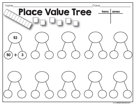 place value decomposition worksheets place value tree classroom freebies bloglovin
