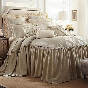 austin horn classics jacqueline bedspread in cream bed With bed bath and beyond king size quilts