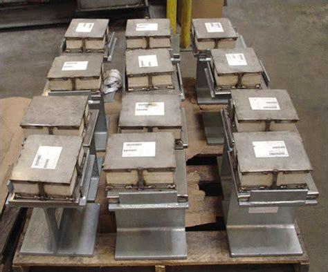 plate assemblies  marinite insulation  vibration pads piping technology