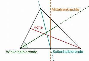 Höhe Vom Dreieck Berechnen : besondere linien und punkte im dreieck mathe thema ~ Themetempest.com Abrechnung