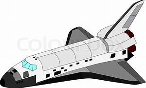Vector space shuttle isolated on white background | Stock ...