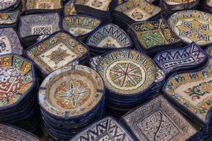 Traditional Moroccan craftsmanship, brightly painted