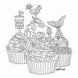 Coloring Pages Colouring Mindfulness Adult Cupcakes Books Cakes Sheets Cupcake Mandala Therapy Apps Printable Imprimir Apple Sketch Inspiration Adults sketch template